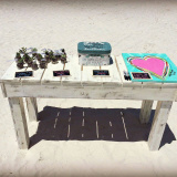 Large Rustic Beach Table